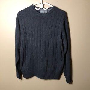 Oscar de la renta cable knit crew neck sweater